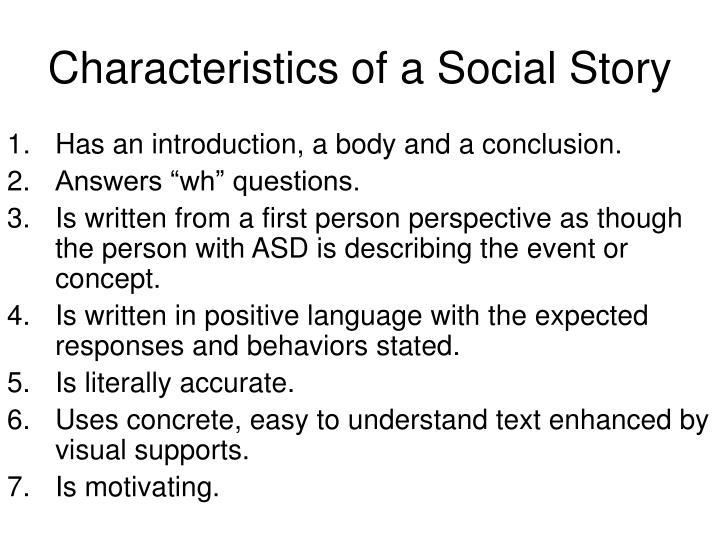 Characteristics of a Social Story