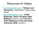 resources for videos
