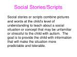 social stories scripts