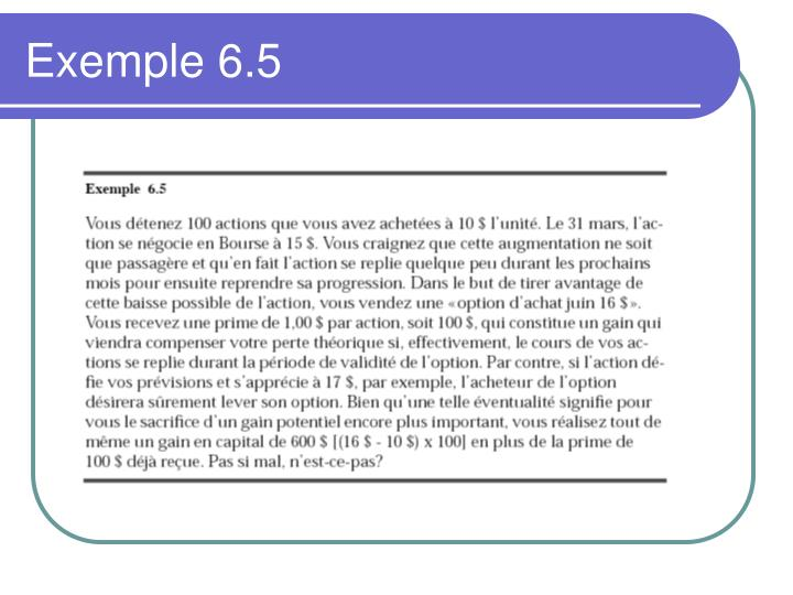 Exemple 6.5