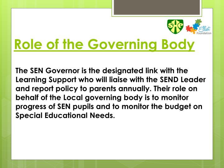 Role of the Governing Body
