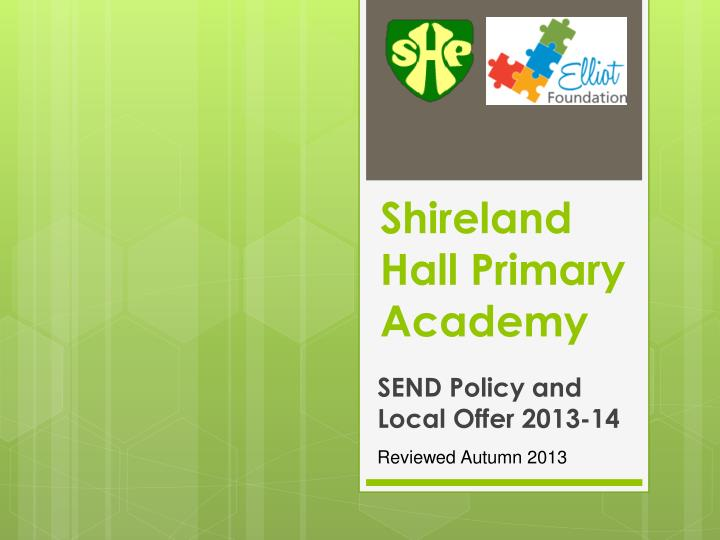 shireland hall primary academy