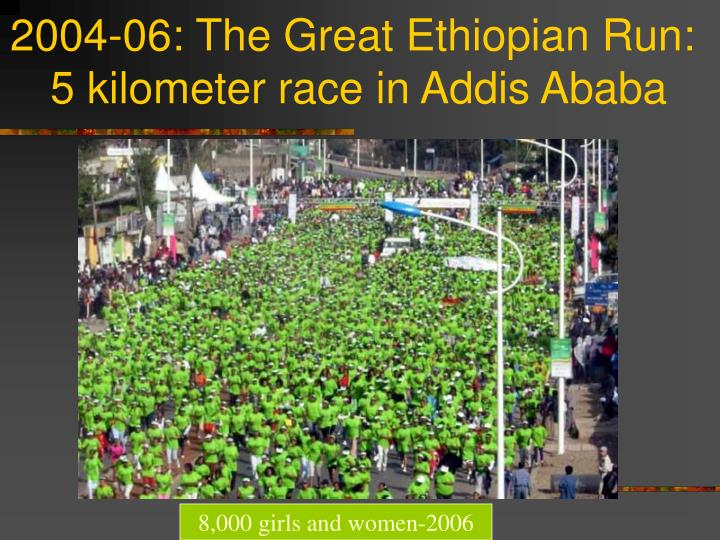 2004-06: The Great Ethiopian Run: