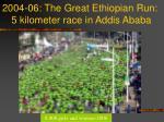 2004 06 the great ethiopian run 5 kilometer race in addis ababa