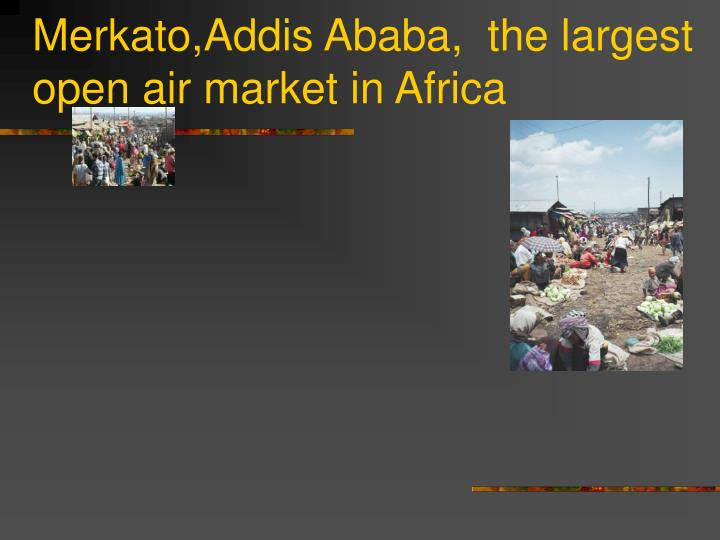 Merkato,Addis Ababa,  the largest open air market in Africa
