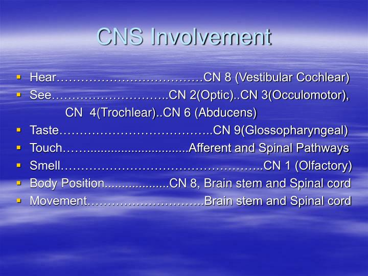 CNS Involvement