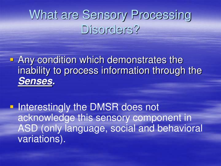 What are Sensory Processing Disorders?