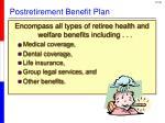 postretirement benefit plan