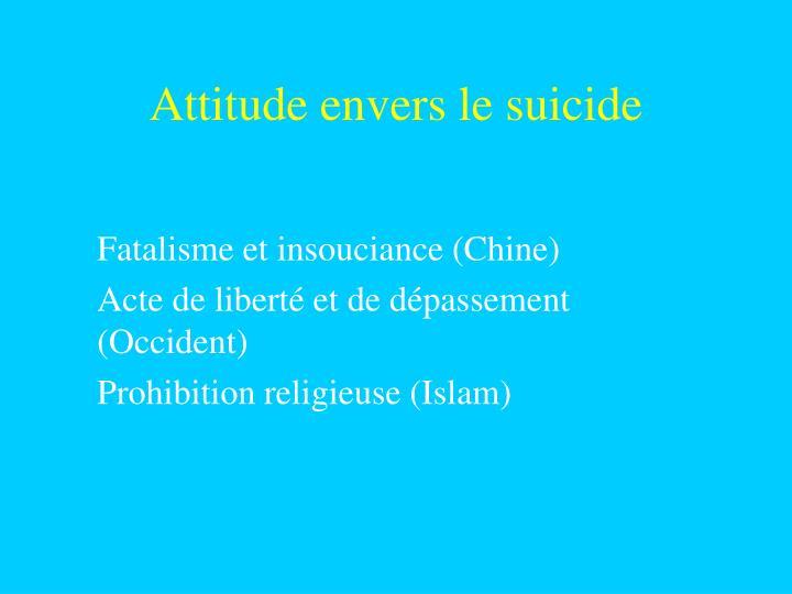 Attitude envers le suicide