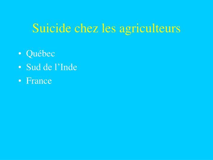 Suicide chez les agriculteurs