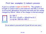 first law examples 1 isobaric process