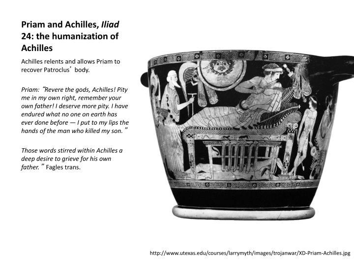 Priam and Achilles,