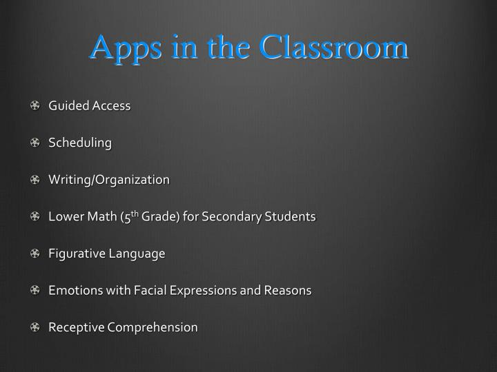 Apps in the classroom1