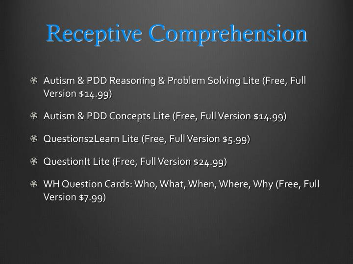Receptive Comprehension