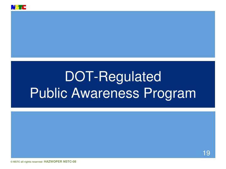 DOT-Regulated