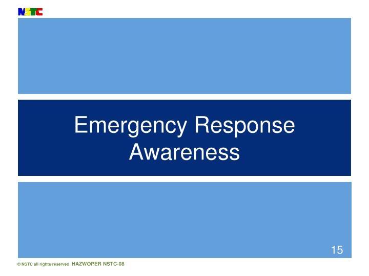 Emergency Response Awareness