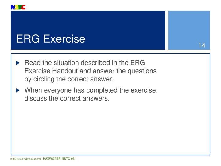 ERG Exercise