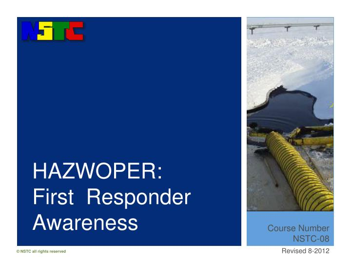 Hazwoper first responder awareness
