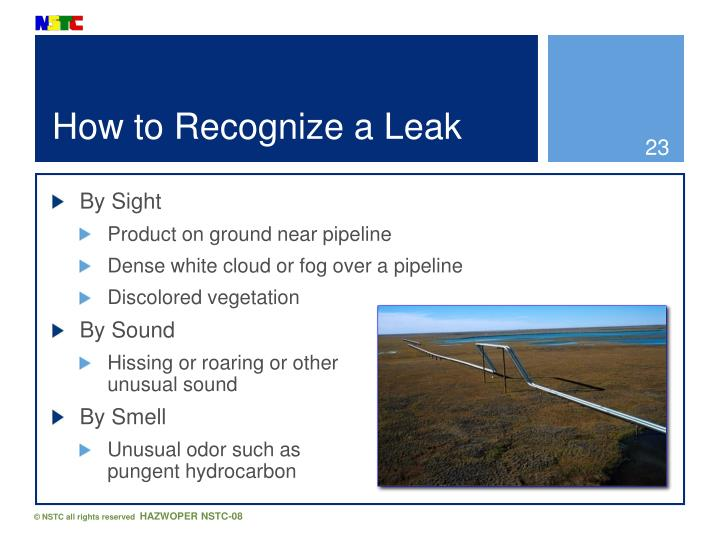 How to Recognize a Leak