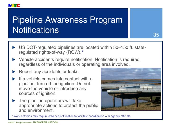 Pipeline Awareness Program