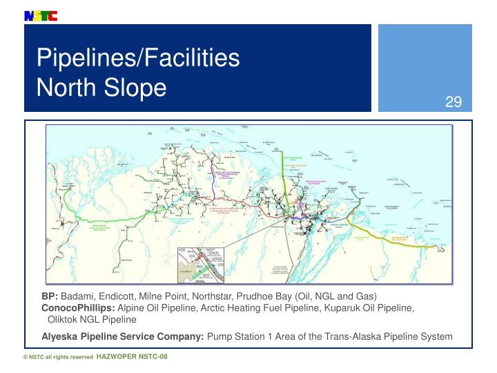 Pipelines/Facilities