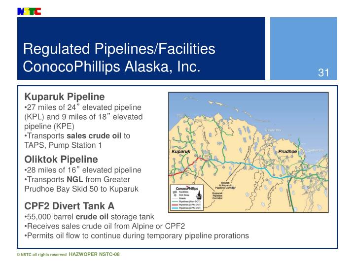 Regulated Pipelines/Facilities