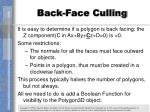 back face culling1