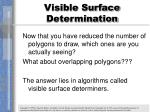 visible surface determination