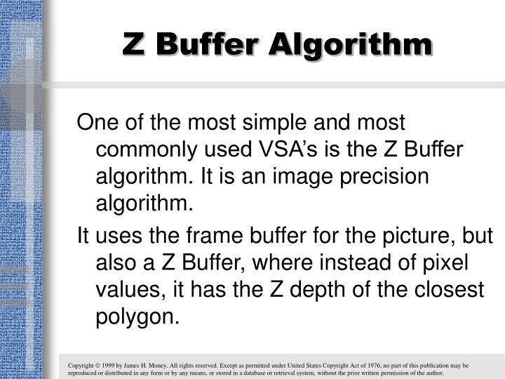 Z Buffer Algorithm