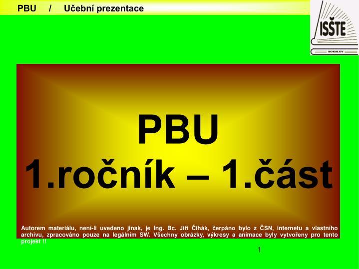 PBU     /     Učební prezentace