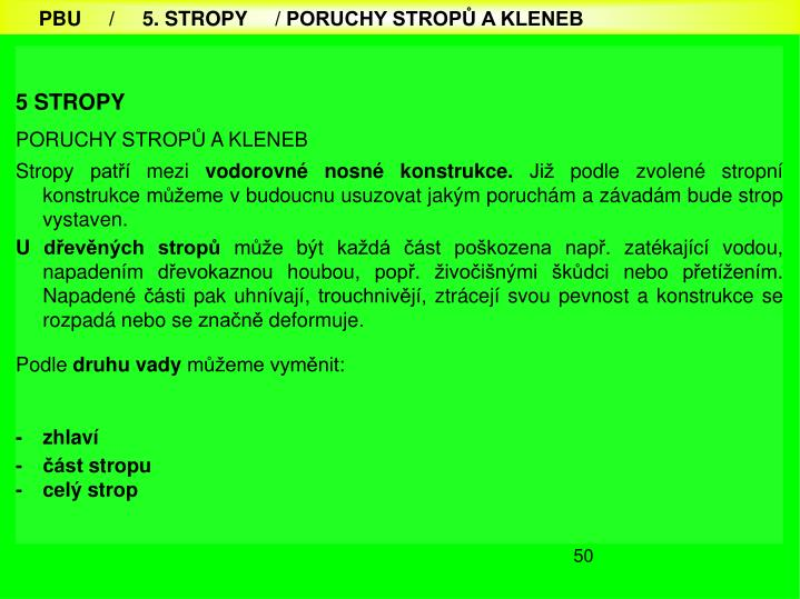 5 STROPY