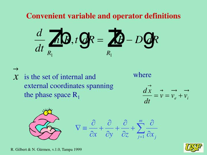Convenient variable and operator definitions