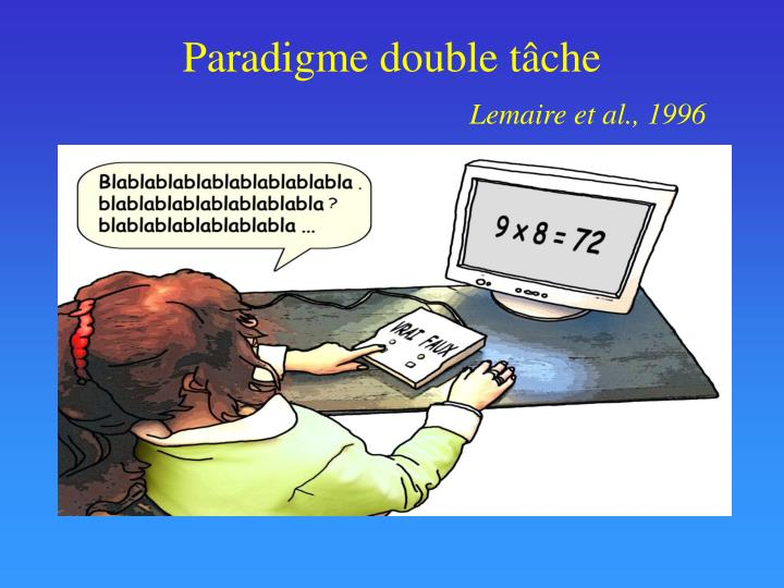 Paradigme double tâche