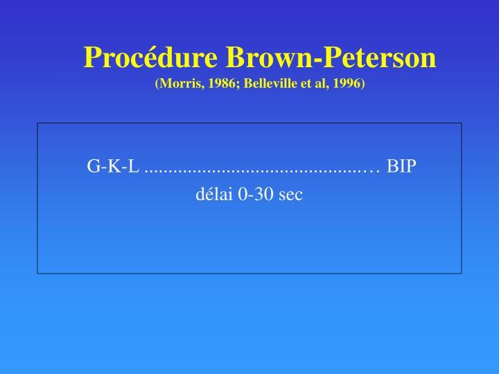 Procédure Brown-Peterson
