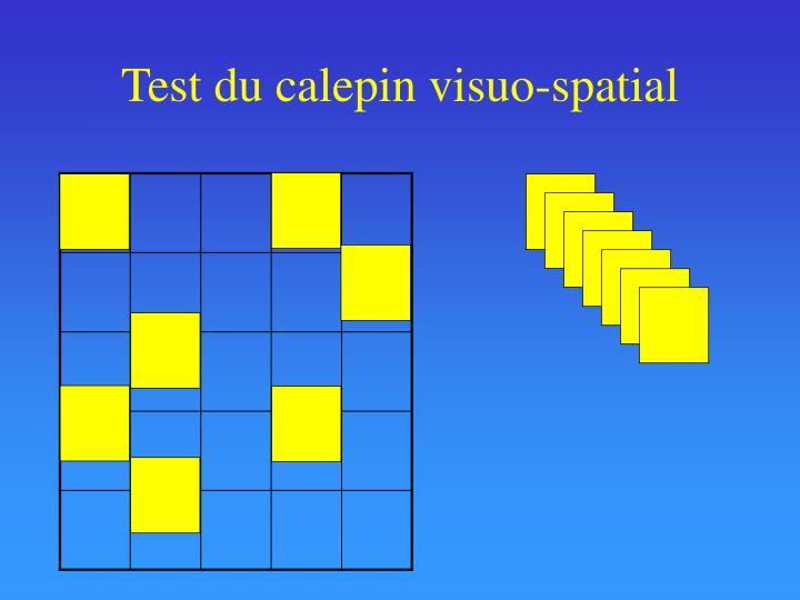 Test du calepin visuo-spatial
