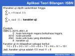 aplikasi teori bilangan isbn1