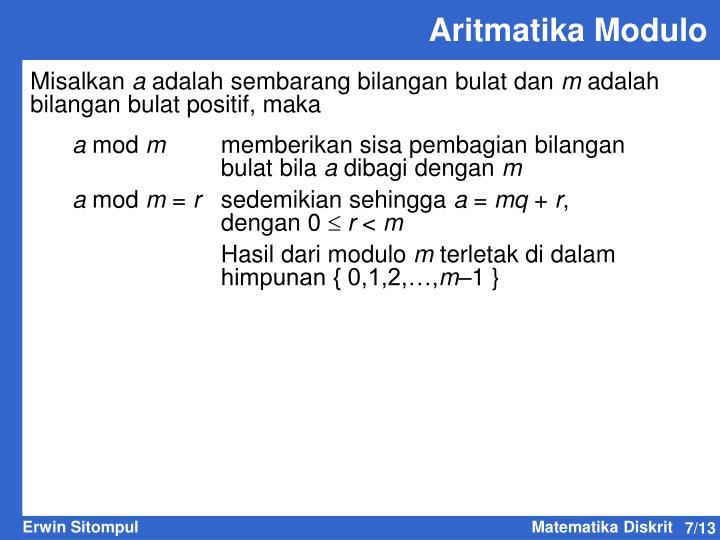 Aritmatika Modulo