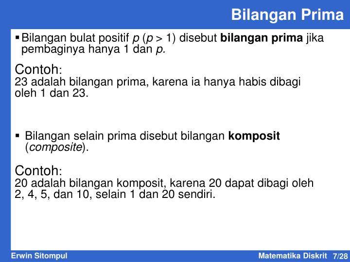 Bilangan Prima