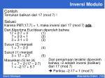 inversi modulo3