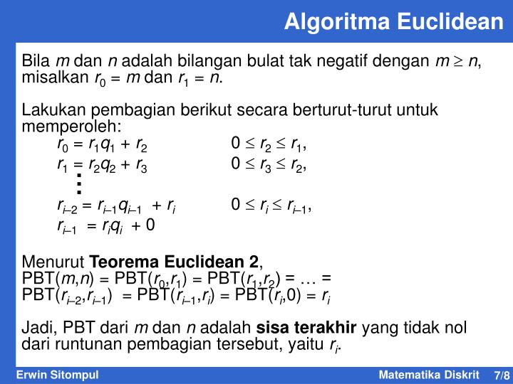 Algoritma Euclidean