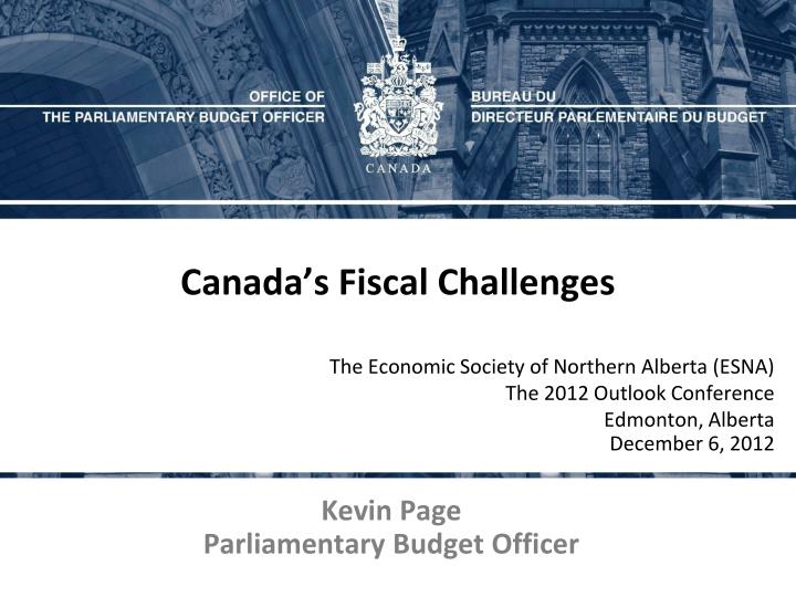 Canada's Fiscal Challenges