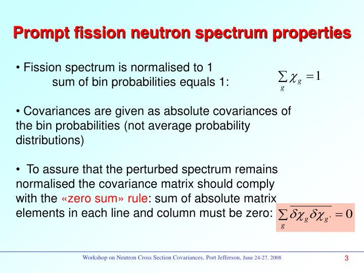 Prompt fission neutron spectrum properties