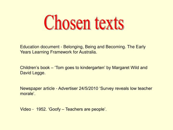 Chosen texts