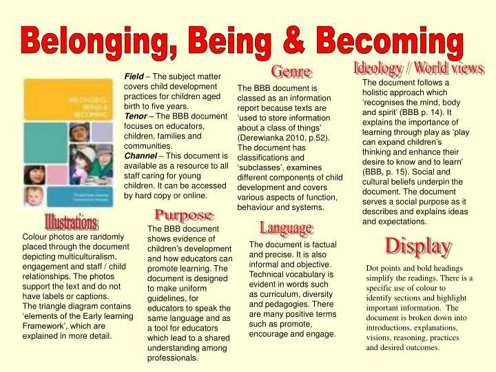 Belonging, Being & Becoming