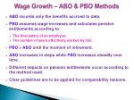 wage growth abo pbo methods1