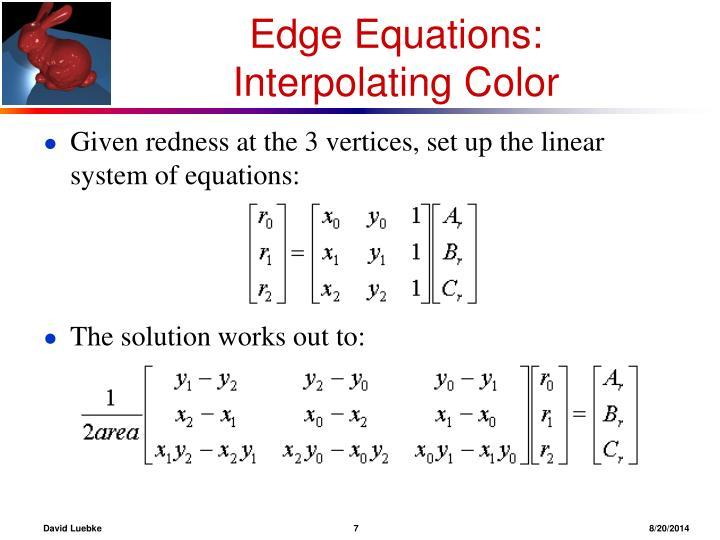 Edge Equations: