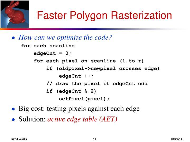 Faster Polygon Rasterization
