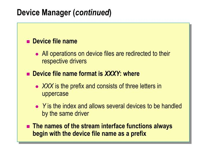 Device Manager (