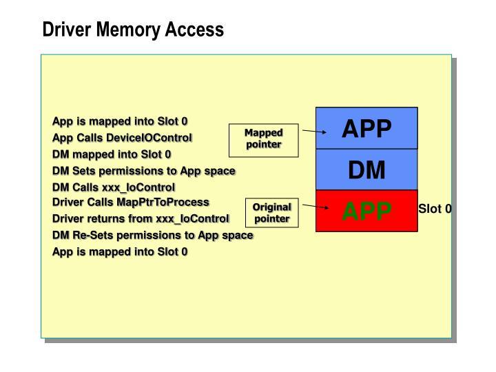 Driver Memory Access