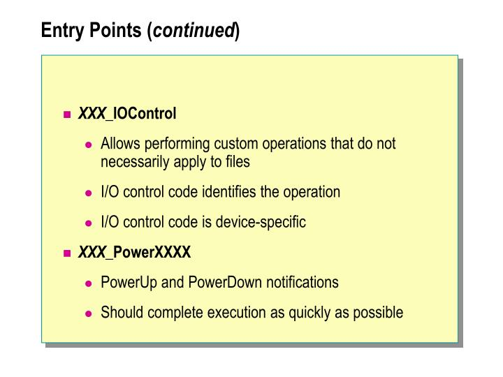 Entry Points (